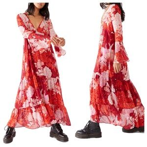 Free People Moroccan Roll Floral Maxi Dress NEW